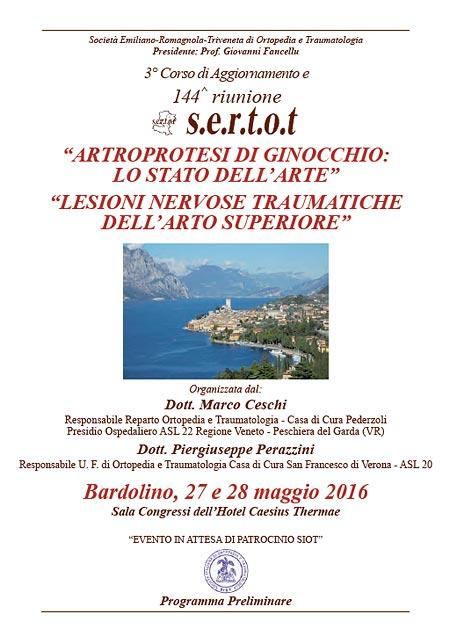 Riunione SERTOT 27-28 Maggio 2016