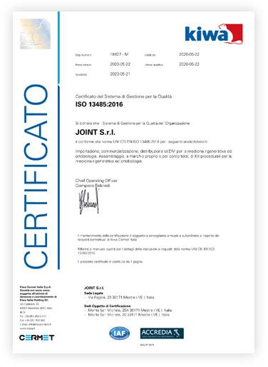 Certificato Kiwa
